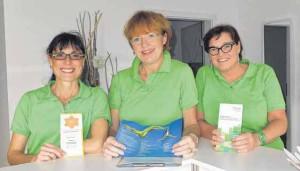 Ein eingespieltes Team (von links): Sabrina Christ, Dr. med. Jana Lill und Regina Grabher.